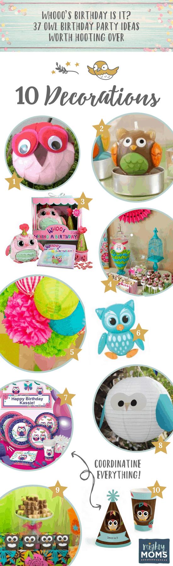 10 Decoration Ideas for an Owl Birthday Party - MightyMoms.club
