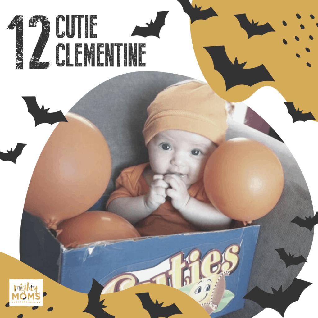 DIY Baby Costume - Cutie Clementine