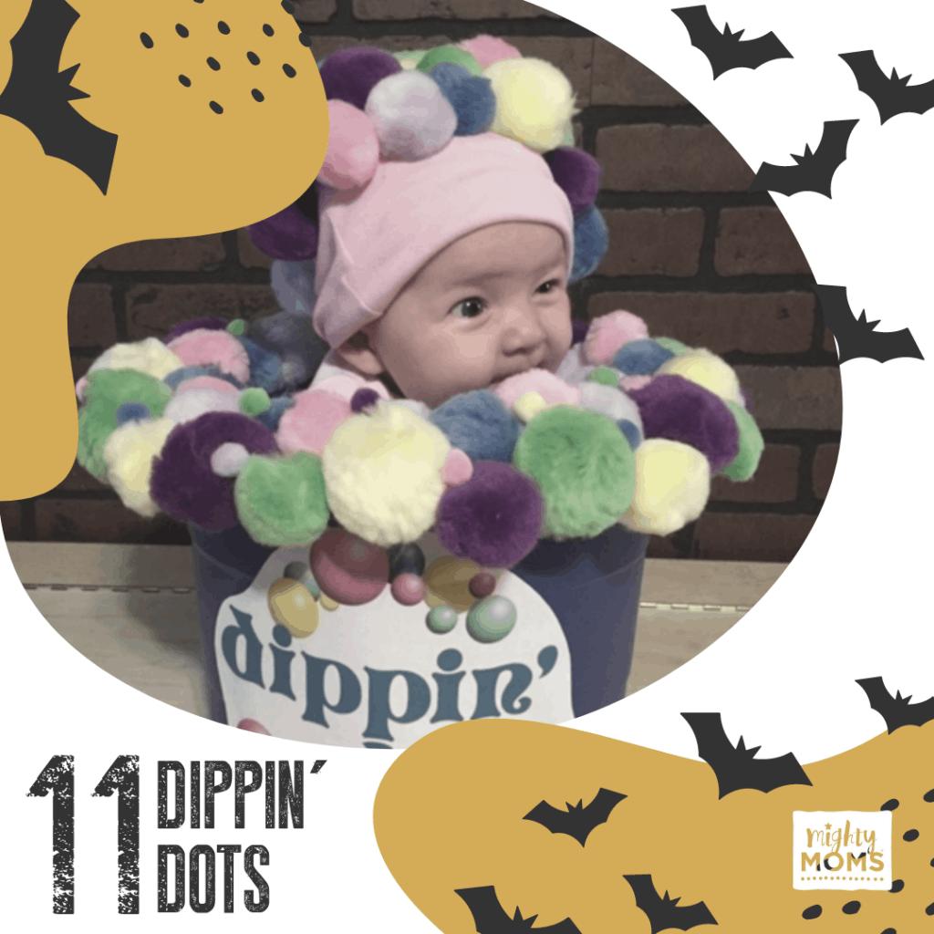 DIY Baby Costume - Dippin' Dots