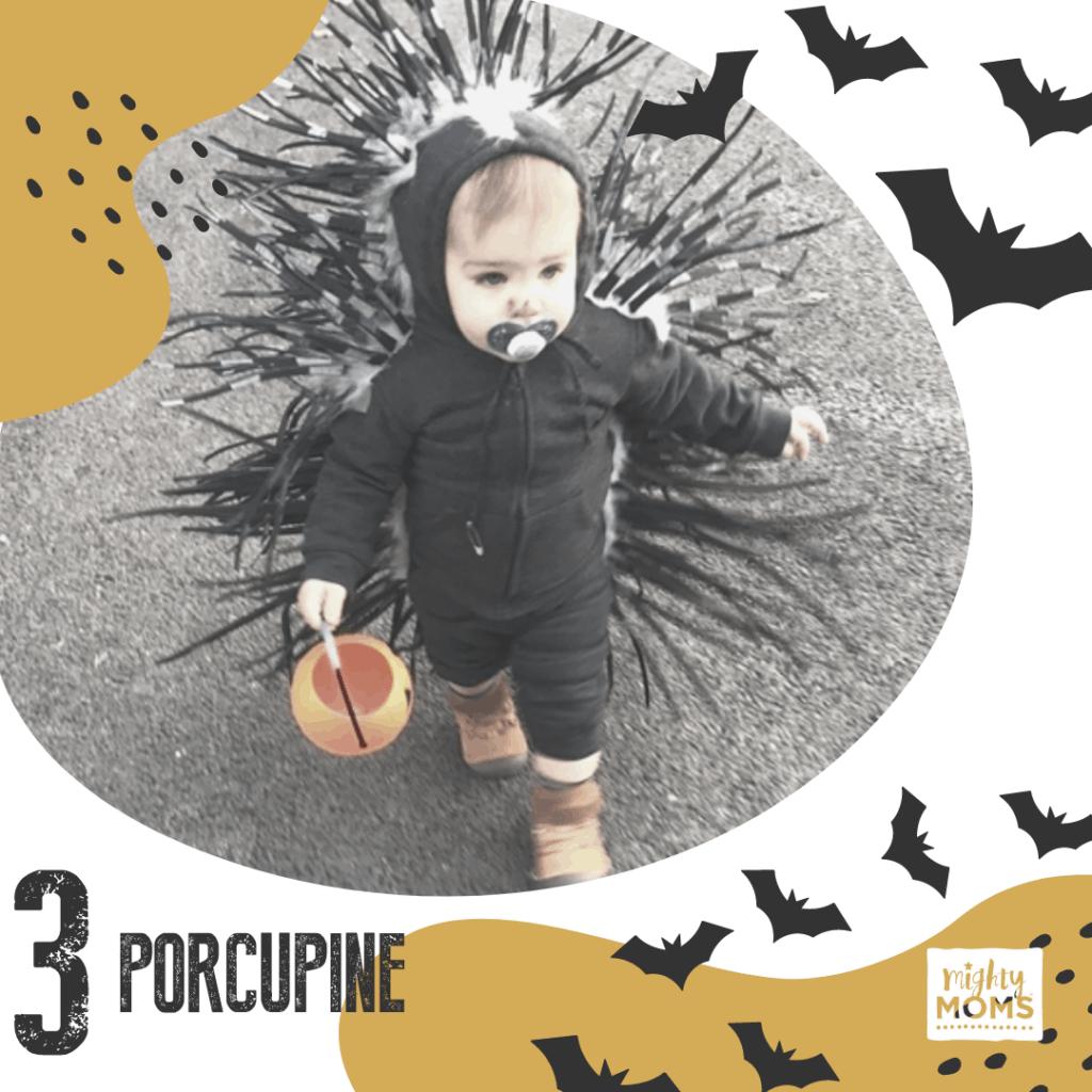 DIY Baby Costume - Porcupine