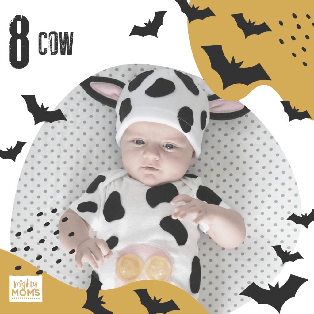 DIY Baby Costume - Cow