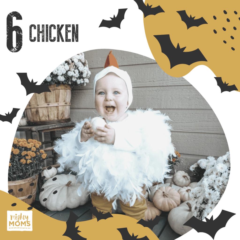DIY Baby Costume - Chicken