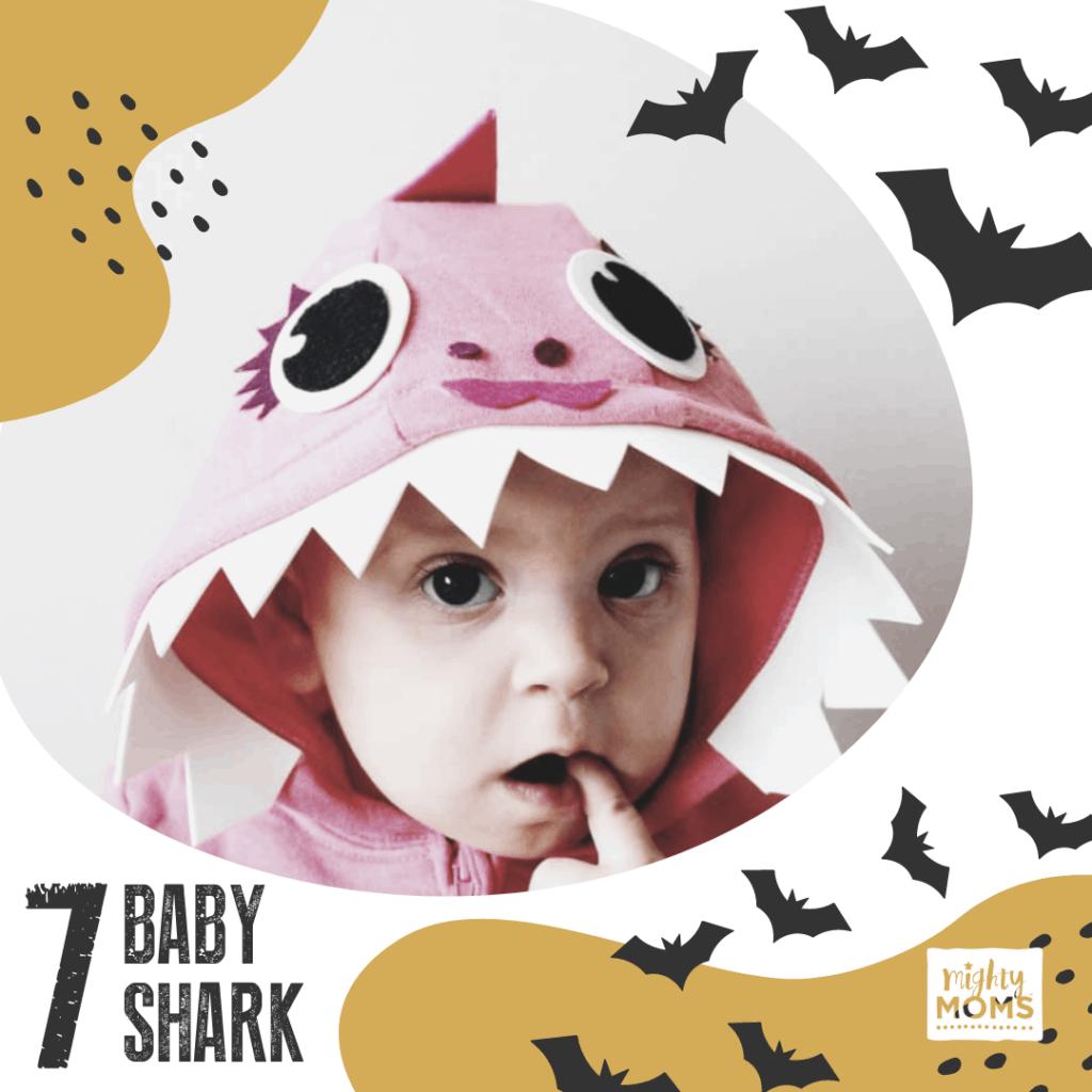 DIY Baby Costume - Baby Shark