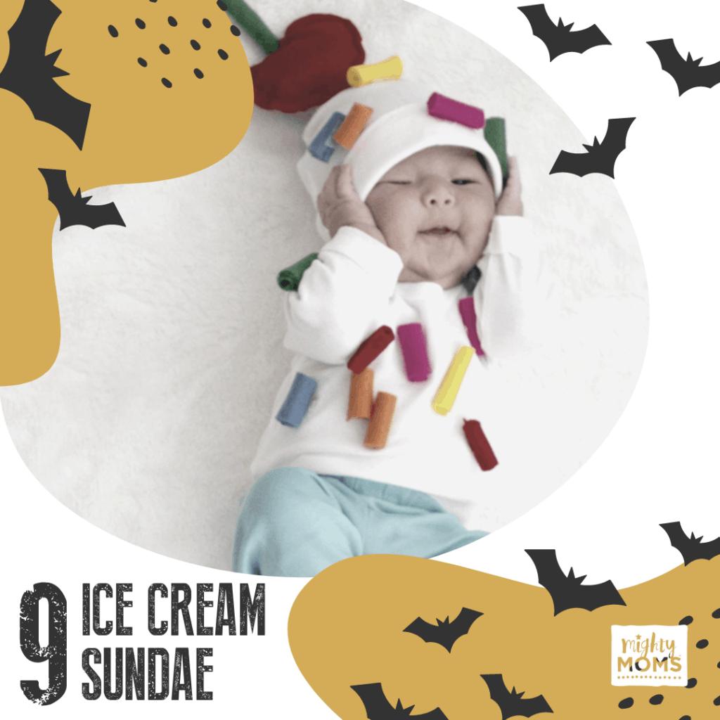 DIY Baby Costume - Ice Cream Sundae