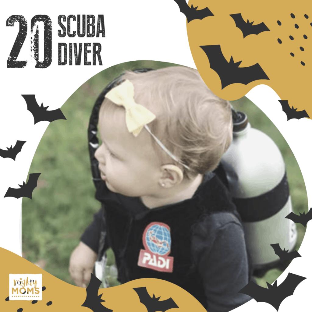 DIY Baby Costume - Scuba Diver