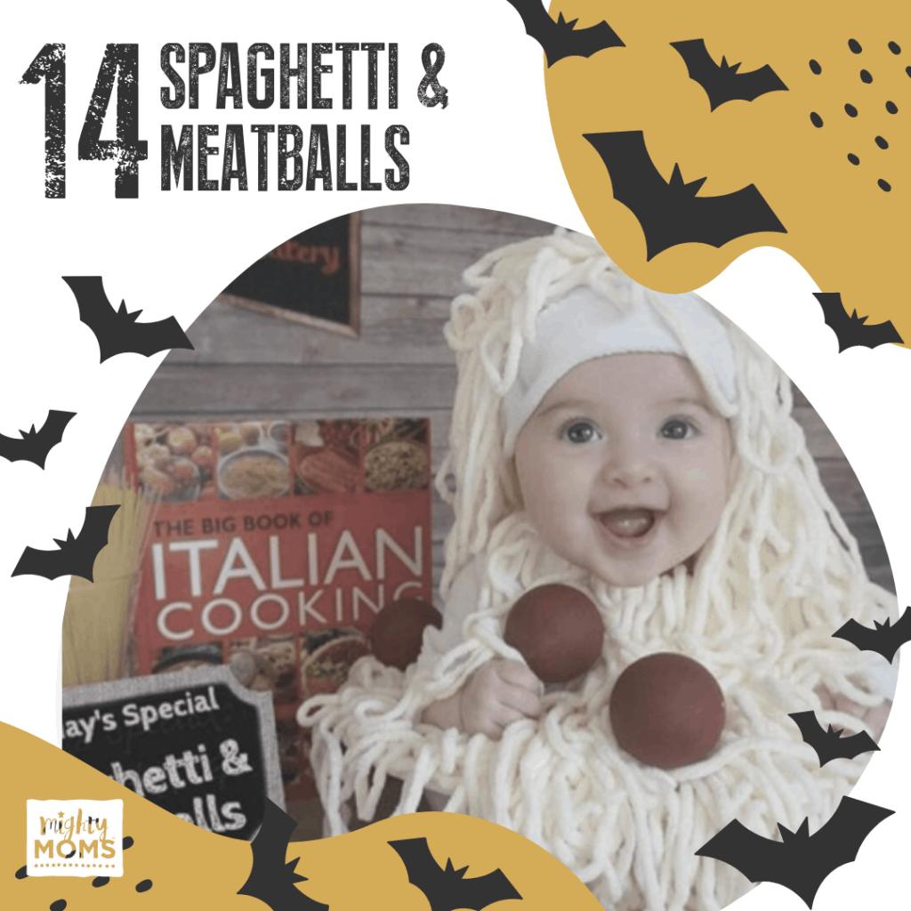 DIY Baby Costume - Spaghetti & Meatballs