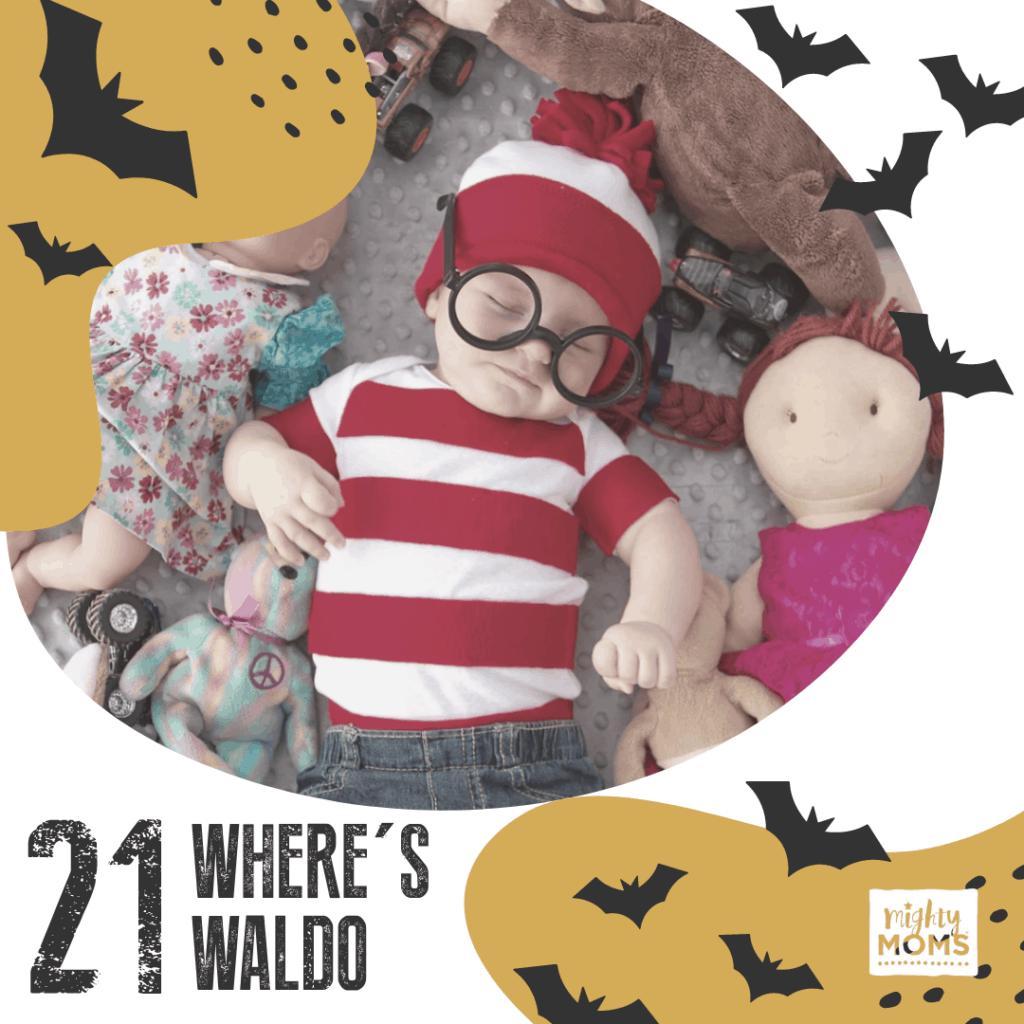 DIY Baby Costume - Where's Waldo