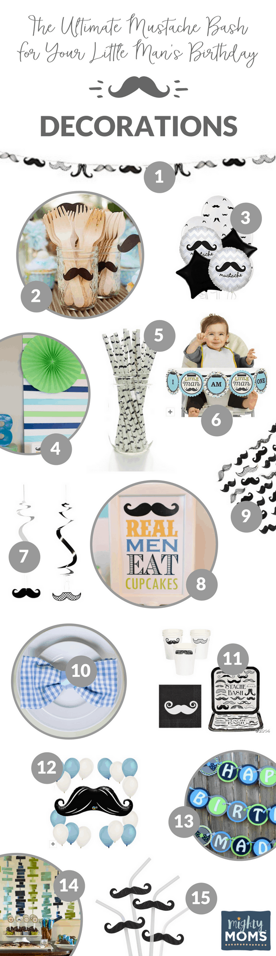 16 Mustache Bash Decor Ideas - MightyMoms.club
