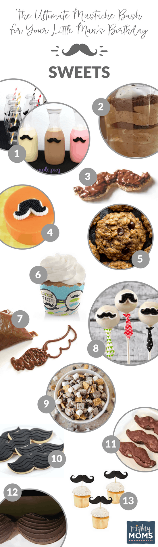 13 Mustache Bash Sweet Solutions - MightyMoms.club