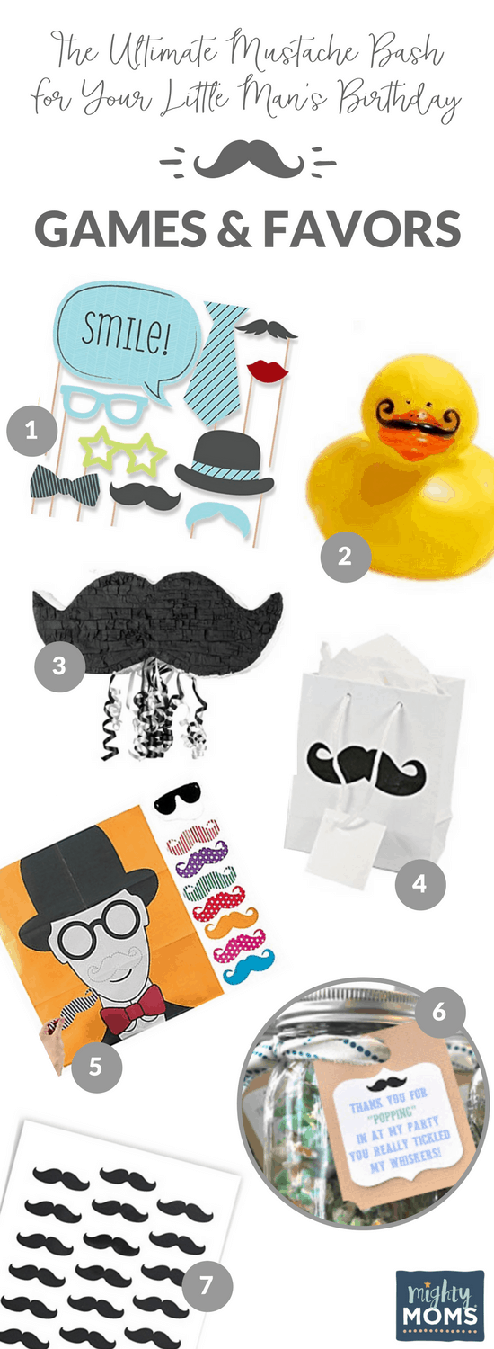 6 Mustache Bash Games & Favors - MightyMoms.club