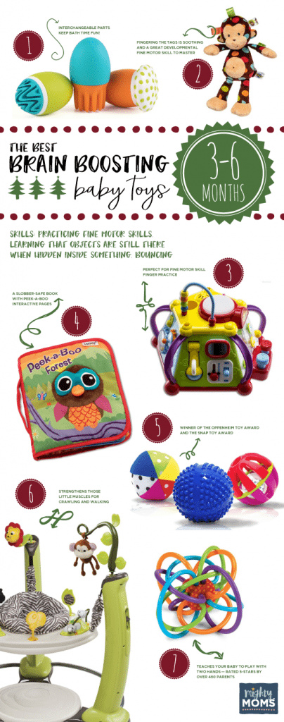 The Best Brain-Boosting Toys for 3-6 Month Olds ~ MightyMoms.club