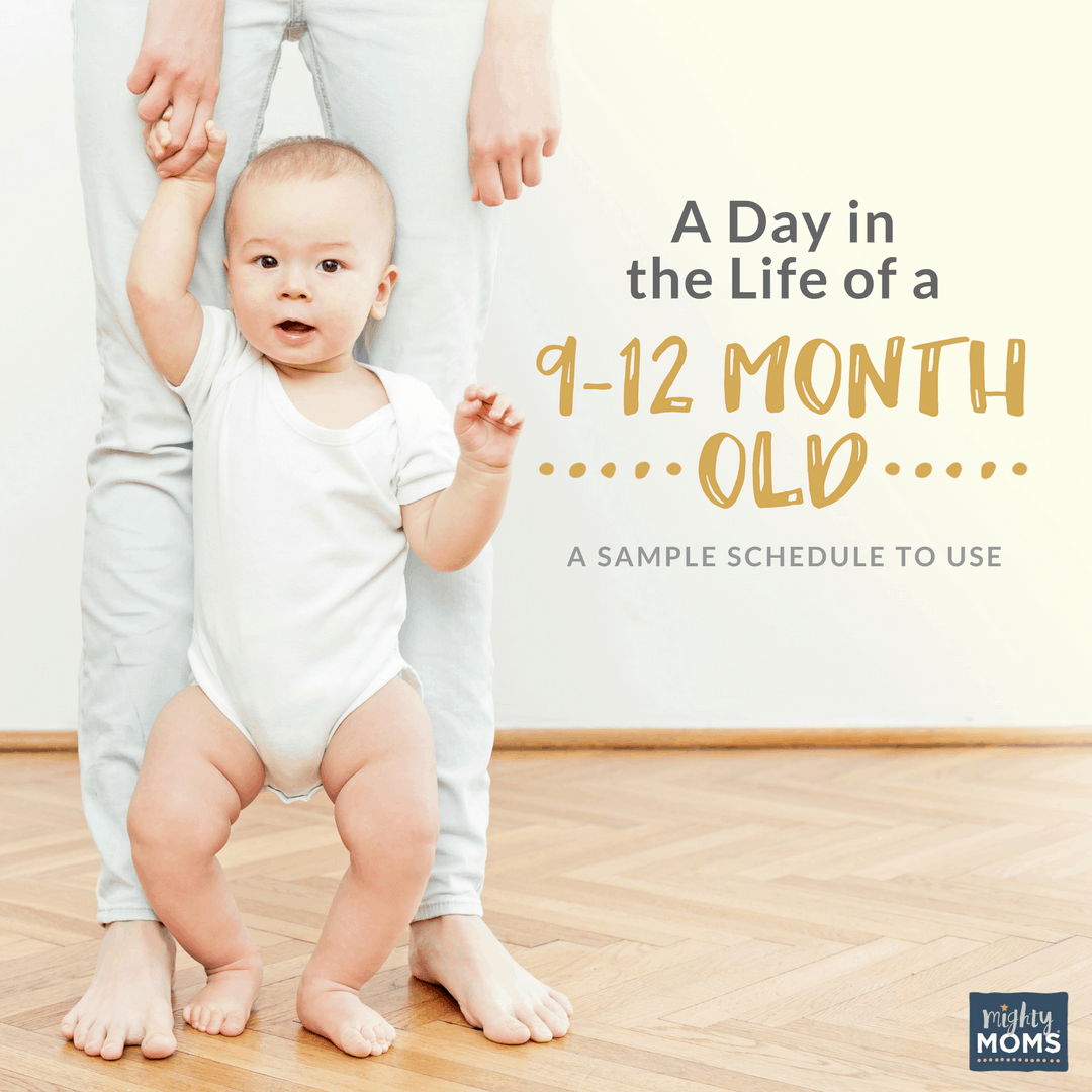 A Day in the Life of a 9-12 Month Old {Free Schedule!}