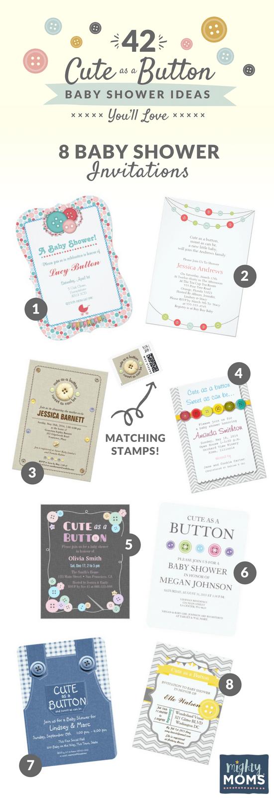 Cute as a Button Baby Shower Ideas You\'ll Love - MightyMoms.club