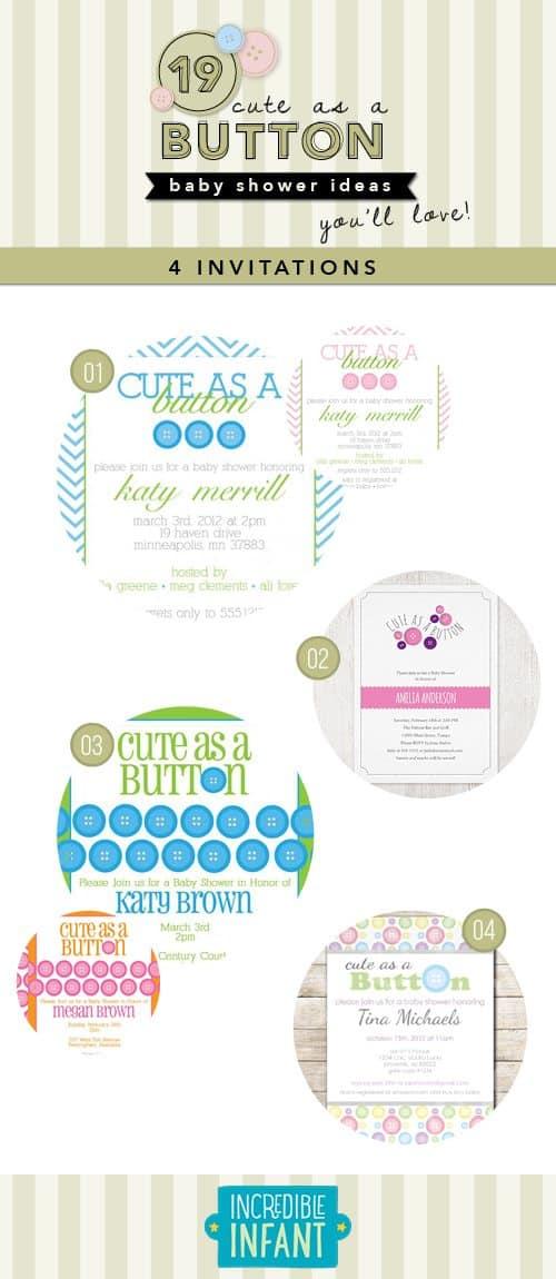 19 Cute As A Button Baby Shower Ideas Youu0027ll Love   MightyMoms.club
