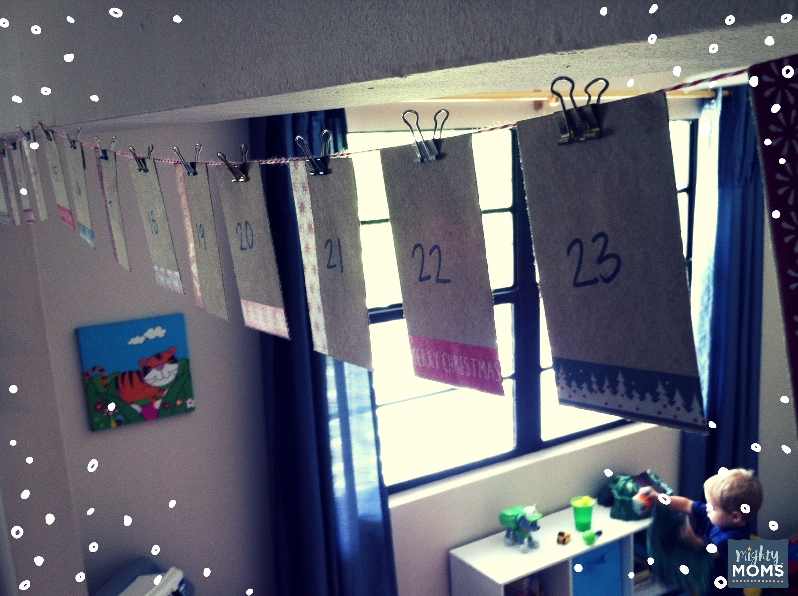 A Simple DIY Advent Calendar You Can Make During Naptime ~ MightyMoms.club