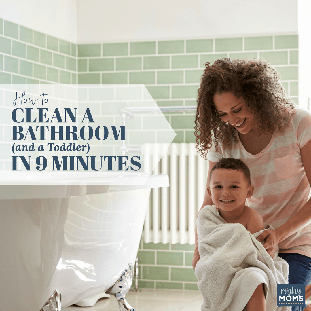 Clean your toddler and the bathroom at the same time! - MightyMoms.club