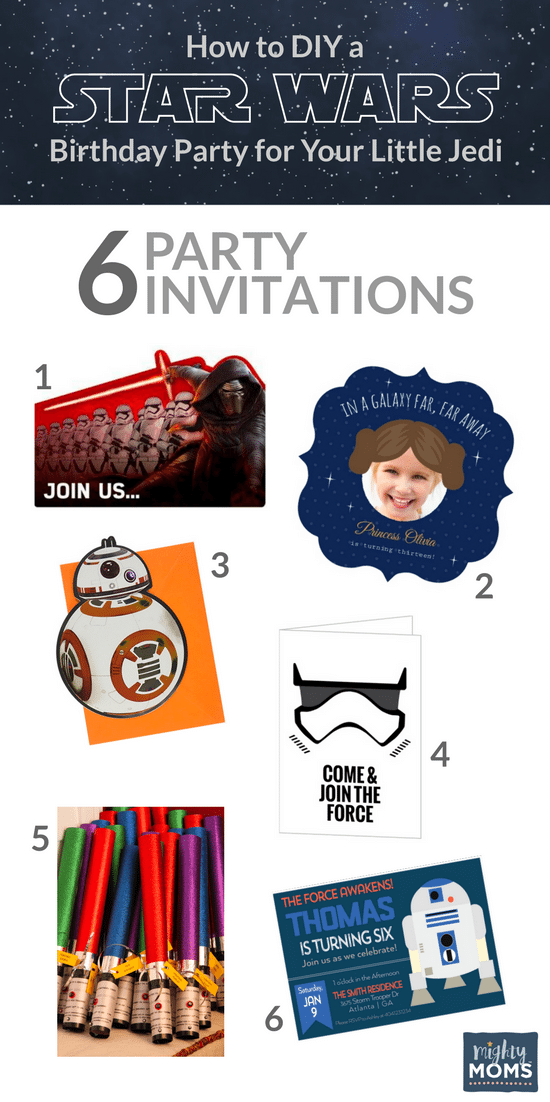 How To DIY A Star Wars Birthday Party For Your Little Jedi The - Star wars birthday invitation diy
