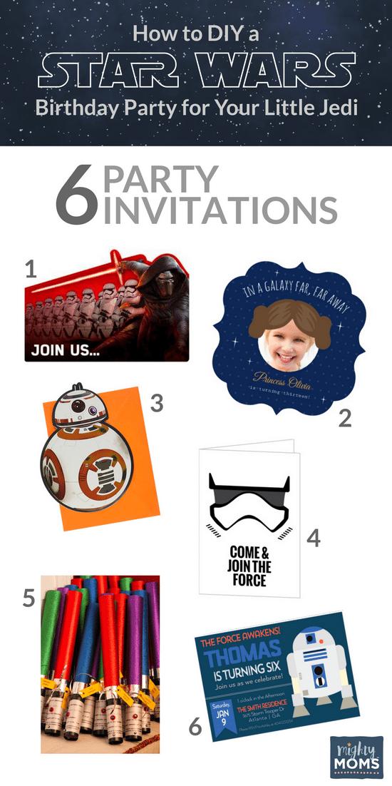 Star Wars Birthday Ideas - Invitations! - MightyMoms.club