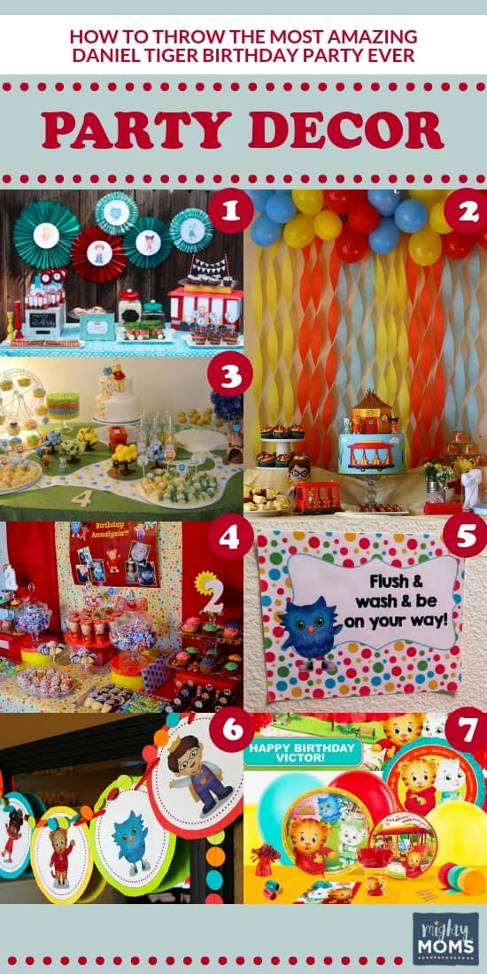 Daniel Tiger Birthday Ideas - Decorations - MightyMoms.club