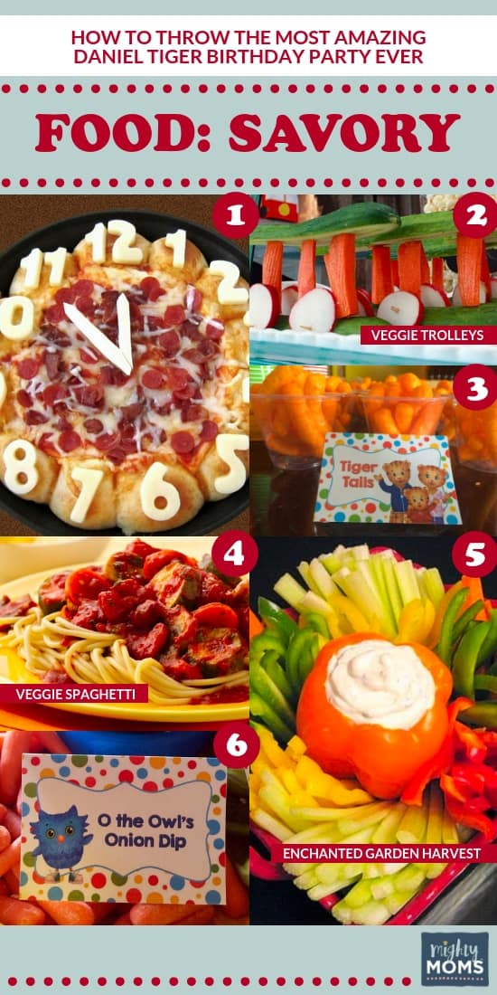 The Ultimate Daniel Tiger Birthday Party: 6 Savory Food Ideas - MightyMoms.Club