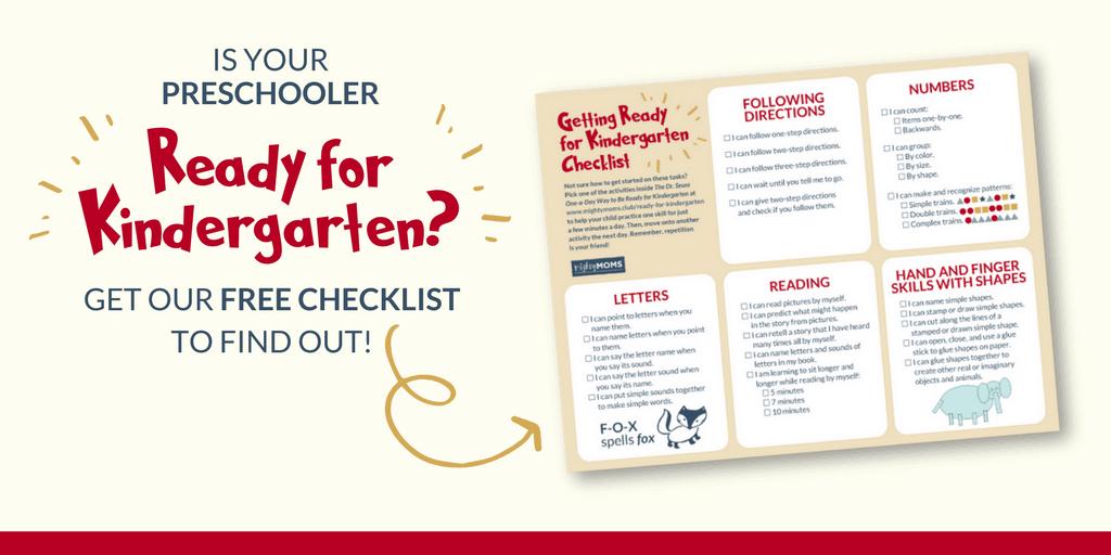 Help get your preschooler ready for Kindergarten with our free skills checklist! MightyMoms.club