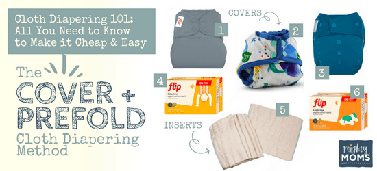 Cloth Diapering 101 - Cover & Prefold Method - MightyMoms.club