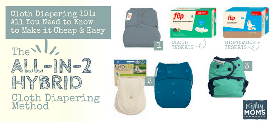 Cloth Diapering 101 - All-in-Twos & Hybrid Method - MightyMoms.club