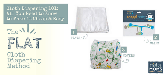 Cloth Diapering 101 - Flat Diapering Method - MightyMoms.club