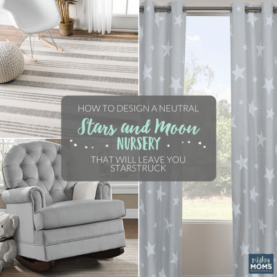 How to Design a Neutral Stars and Moon Nursery that Will Leave You Starstruck {Free Nursery Artwork!}