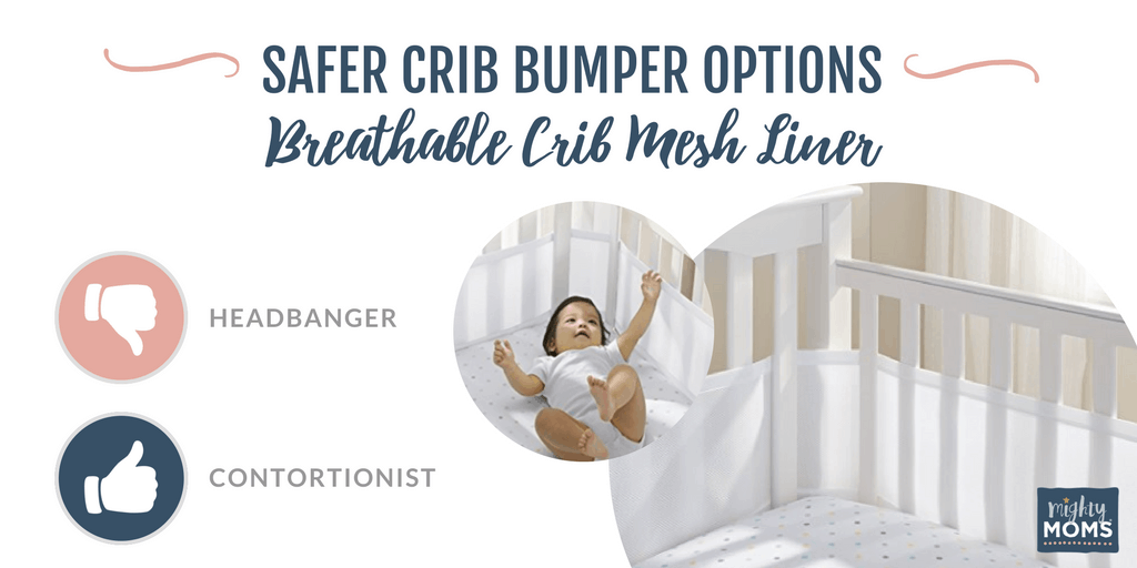 The Mesh Crib Liner is a safer option. | MightyMoms.club
