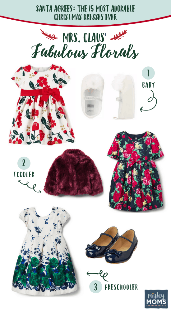 Mrs. Claus' favorite floral Christmas dresses - MightyMoms.club