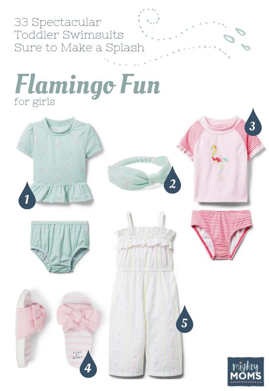 Spectacular Toddler Swimsuits: Flamingo Fun - MightyMoms.club