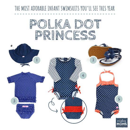 Infant Swimsuits: Polka Dot Princess Collection - MightyMoms.club