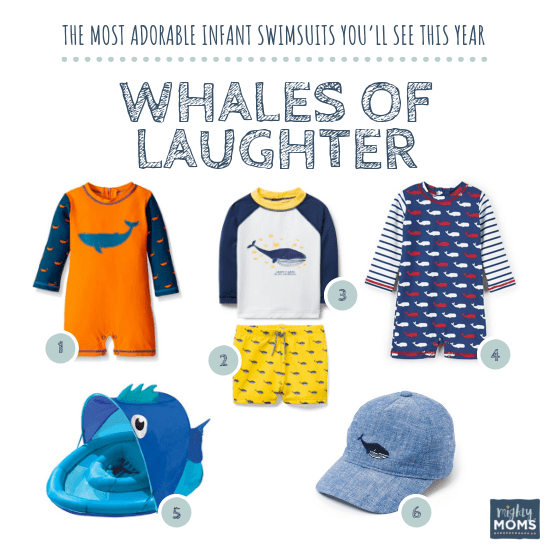 Infant Swimsuits: Whales of Laughter Collection - MightyMoms.club