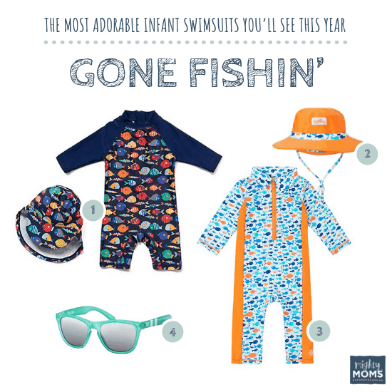Infant Swimsuits: Gone Fishin' Collection - MightyMoms.club