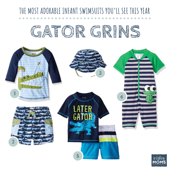 Infant Swimsuits: Gator Grins Collection - MightyMoms.club