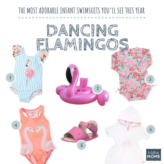 Infant Swimsuits: Dancing Flamingos Collection - MightyMoms.club