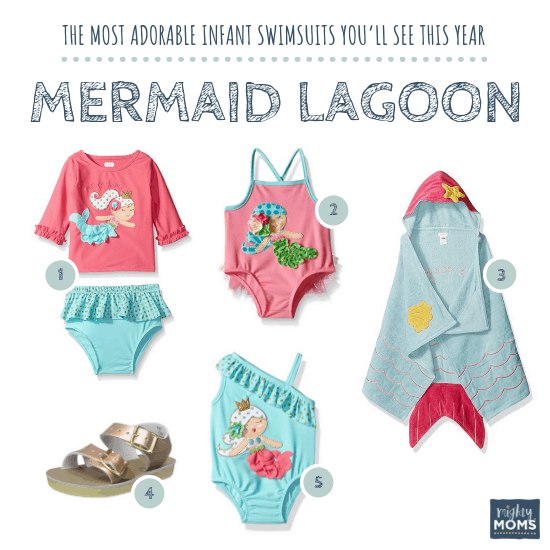 Infant Swimsuits: Mermaid Lagoon Collection - MightyMoms.club