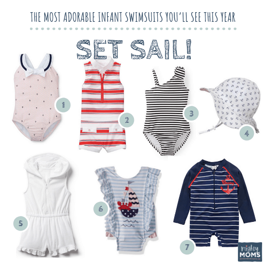 Infant Swimsuits: Set Sail Collection - MightyMoms.club