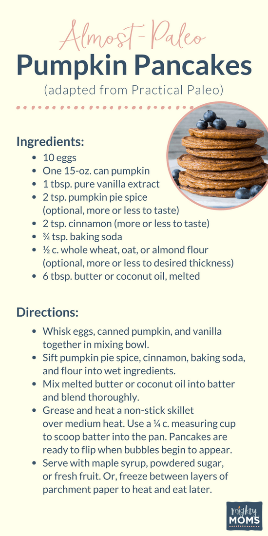 Pumpkin Pancake Recipe - MightyMoms.club