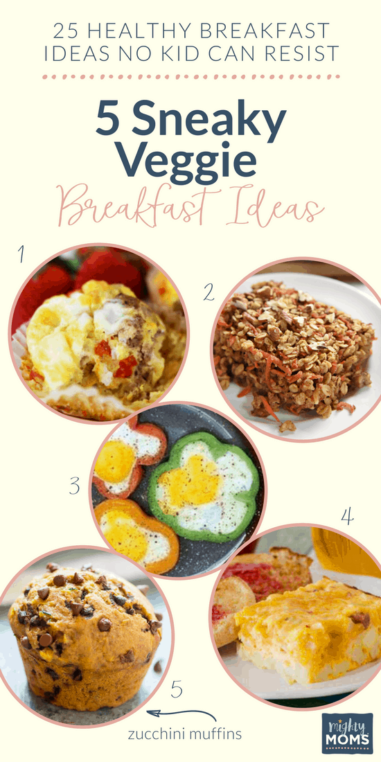 Sneaky ways to get vegetables into breakfast! MightyMoms.club