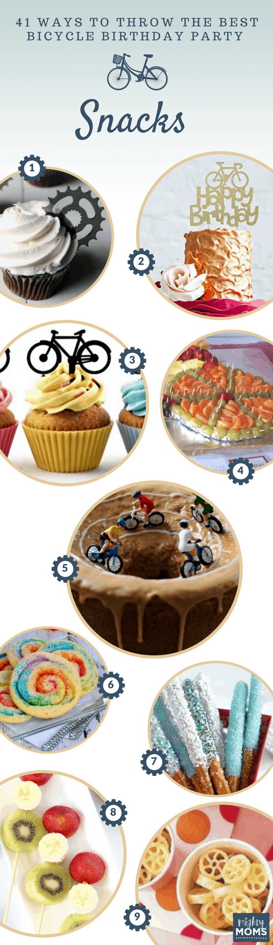 Bicycle Birthday Party Sweet Treat Ideas - MightyMoms.club