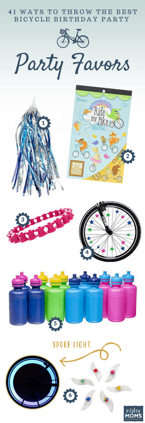 Bicycle Birthday Party Favor Ideas - MightyMoms.club