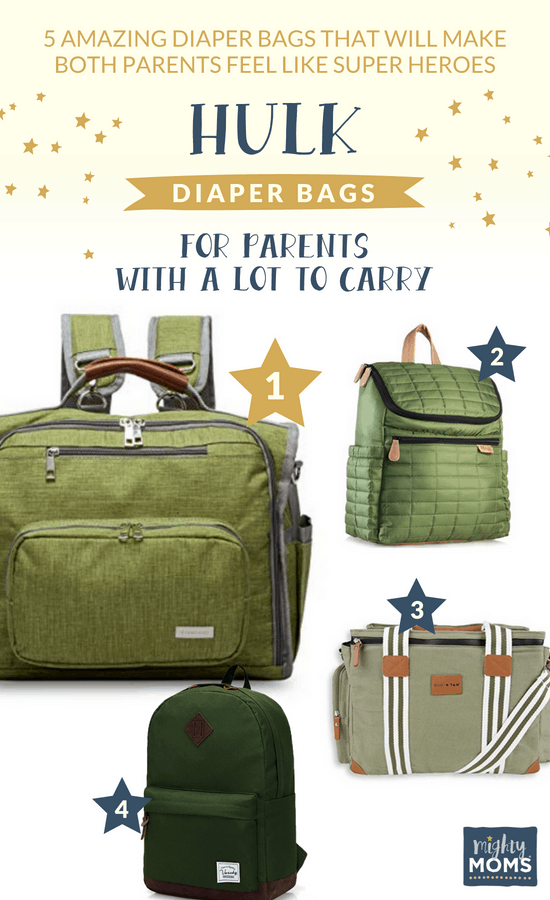 Hulk Diaper Bags for when you have a lot to carry - MightyMoms.club