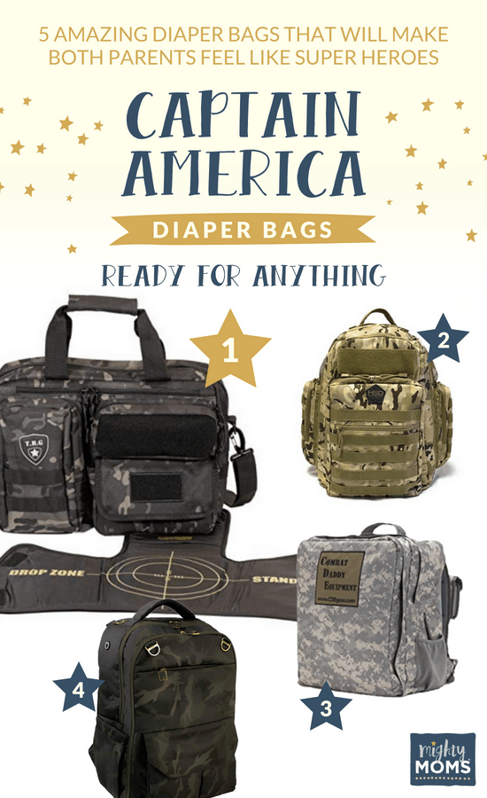Captain America diaper bags ready for anything! - MightyMoms.club