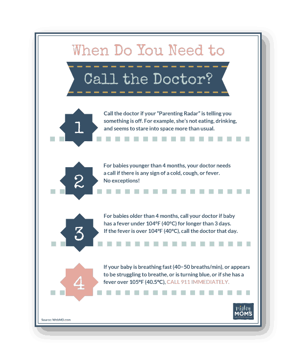 This free printable tells you when to call the doctor - MightyMoms.club