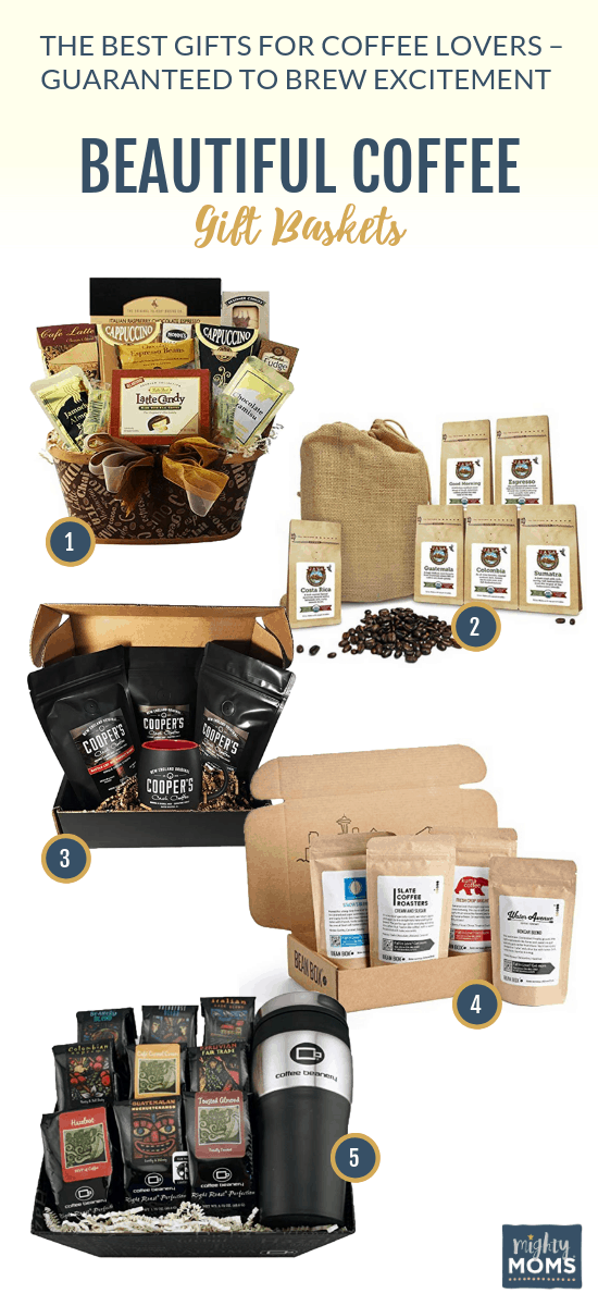 These coffee gift baskets will delight the taste buds! MightyMoms.club