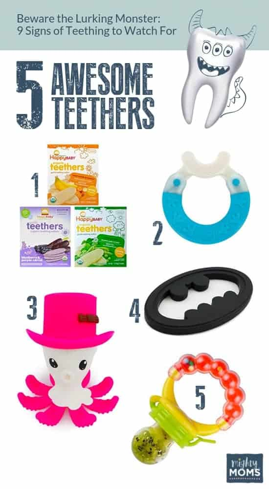 Here are 5 Awesome Teethers to help you survive