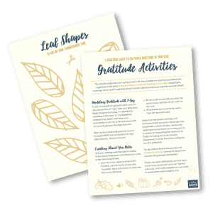 Use this free guide to cultivate gratitude with your kids (and make a few memories!) - MightyMoms.club