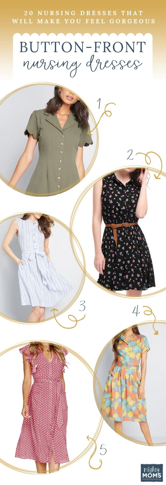 Nursing Dresses: Go with Buttons - MightyMoms.club
